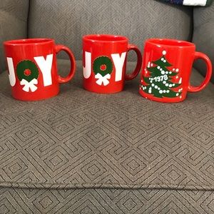 Set of 3 Waechtersbach Christmas Mugs